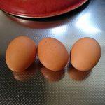 NHKのロゴをイメージした卵の画像